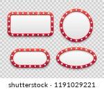 marquee light frames. vintage... | Shutterstock .eps vector #1191029221