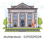 banking operations. bank... | Shutterstock .eps vector #1191029224