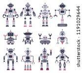 flat robots. electronic robot... | Shutterstock .eps vector #1191029644
