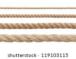 collection of various ropes on... | Shutterstock . vector #119103115