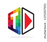 logo icon for multimedia...   Shutterstock .eps vector #1191037051