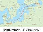 nord stream is gas pipeline... | Shutterstock .eps vector #1191038947