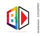 logo icon for multimedia...   Shutterstock .eps vector #1191039907