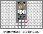 mega set of 100 hand lettering... | Shutterstock .eps vector #1191042607