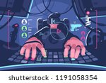 professional virtual reality... | Shutterstock .eps vector #1191058354