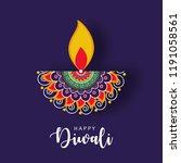 happy diwali wallpaper design... | Shutterstock .eps vector #1191058561