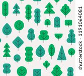seamless forest pattern with... | Shutterstock .eps vector #1191064081