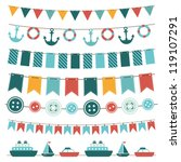 sea theme garland | Shutterstock .eps vector #119107291