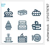 simple set of  9 outline icons... | Shutterstock . vector #1191078787