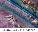 beautiful colorful textile... | Shutterstock . vector #1191081247