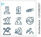 simple set of  9 outline icons... | Shutterstock . vector #1191082207