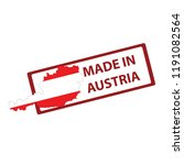 stamp with map and flag of...   Shutterstock .eps vector #1191082564