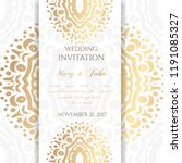 wedding invitation templates.... | Shutterstock .eps vector #1191085327