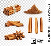 3d realistic vector set of... | Shutterstock .eps vector #1191090271