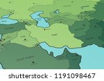 map of middle east  iran in... | Shutterstock . vector #1191098467