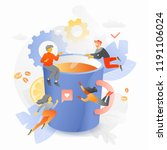 the creative team is...   Shutterstock .eps vector #1191106024