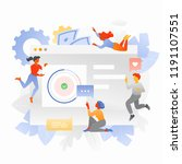the creative team is... | Shutterstock .eps vector #1191107551