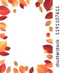 autumn  fall background with... | Shutterstock .eps vector #1191107611