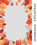 autumn  fall background with... | Shutterstock .eps vector #1191107614