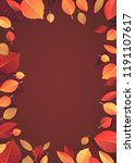 autumn  fall background with... | Shutterstock .eps vector #1191107617