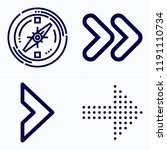 simple set of 4 icons related... | Shutterstock . vector #1191110734