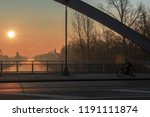 sunrise over the waterway ... | Shutterstock . vector #1191111874