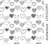 seamless pattern with sketch... | Shutterstock .eps vector #1191121957