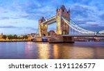 the architecture of london in... | Shutterstock . vector #1191126577