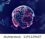 global network concept  digital ... | Shutterstock .eps vector #1191129637