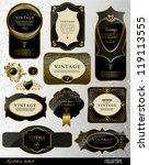 retro black gold label can be... | Shutterstock .eps vector #119113555