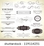 calligraphic design elements... | Shutterstock .eps vector #119114251