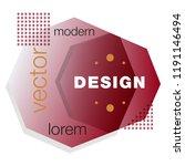 minimalistic design  creative... | Shutterstock .eps vector #1191146494