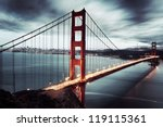 golden gate bridge in san... | Shutterstock . vector #119115361