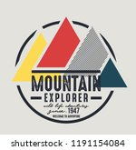 mountain illustration  outdoor... | Shutterstock .eps vector #1191154084