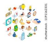 specie icons set. isometric set ... | Shutterstock .eps vector #1191162331