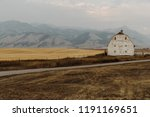 old white barn in front of... | Shutterstock . vector #1191169651
