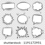 retro empty comic bubbles and... | Shutterstock .eps vector #1191172951