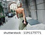 fashion. young stylish woman... | Shutterstock . vector #1191175771