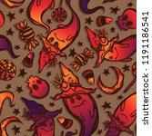 vector illustration  halloween  ...   Shutterstock .eps vector #1191186541