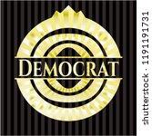 democrat golden badge | Shutterstock .eps vector #1191191731
