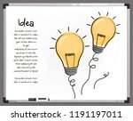 light bulb icons with concept... | Shutterstock .eps vector #1191197011
