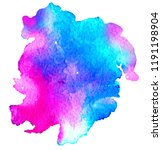 colorful abstract watercolor... | Shutterstock .eps vector #1191198904