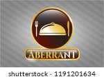 gold badge or emblem with... | Shutterstock .eps vector #1191201634