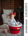 beautiful baby on christmas...   Shutterstock . vector #1191203371
