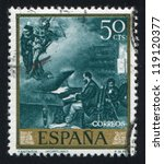 spain   circa 1968  stamp... | Shutterstock . vector #119120377