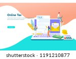 online tax payment vector...