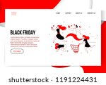 modern cartoon flat characters... | Shutterstock .eps vector #1191224431