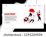 modern cartoon flat characters... | Shutterstock .eps vector #1191224434