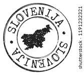 slovenia silhouette postal... | Shutterstock .eps vector #1191232321