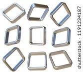 metal dimensional squares 3d...